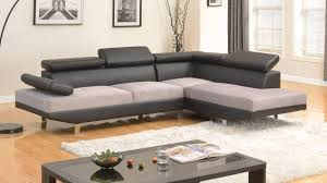 bonded leather sectional sofa modern contemporary designed two tone microfiber and bonded leather