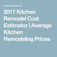 Restaurant Renovation Cost Estimate by Best 25 Average Kitchen Remodel Cost Ideas On