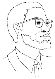 malcolm x coloring pages galerry vitlt com