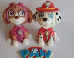 paw patrol edible cake toppers marshall everest tracker