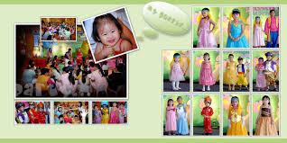 birthday photo album rhia s 1st birthday bash layout the of