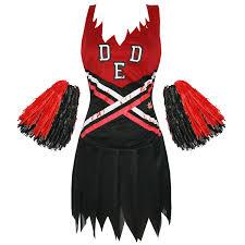 cheerleader costumes for halloween ladies new dead zombie cheerleader halloween fancy dress