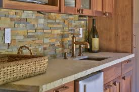 stone veneer backsplash cabinet backsplash