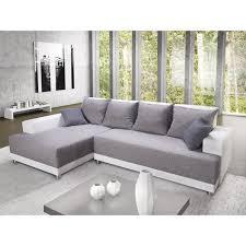 canapé fabrication tissu toscana canapé d angle gauche convertible 5 places tissu gris et