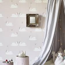 White Rose Bedroom Wallpaper Kids Bedroom Wallpaper And Nursery Wallpaper Online Hibou Home