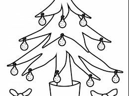 ornament outstanding tree outline with tree