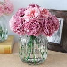 artificial flowers cheap 10pcs silk artificial flowers cheap hydrangeas peony flower