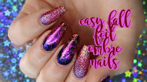 easy fall ombre foil design can be natural nails u0026 polish