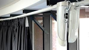 finnestra large electric curtains u0026 track close up youtube