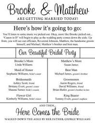 programs for weddings templates sle civil wedding program unique wedding ideas