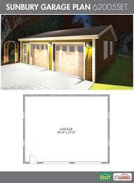 sunbury garage plan 30 u0027 x 24 u0027 2 car garage 62005set kent