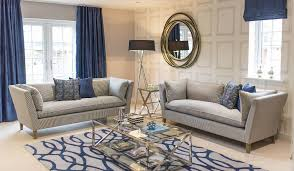 interior design of a luxury apartment show home living area and