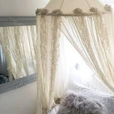 Lace Bed Canopy Bohemian Bed Canopy Princess Bedroom Nursery Crib Shabby