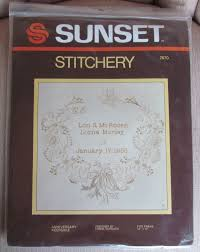 www marymaxim catalog25th anniversary plate crafts needlepoint kits find sunset stitchery products online