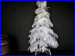 style white vintage real feather tree 3ft ostrich