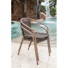 Stackable Outdoor Dining Chairs Awesome Panama Jack Cafe Stacking Patio Dining Chair Reviews