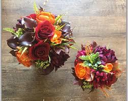wedding flowers autumn fall wedding bouquet etsy