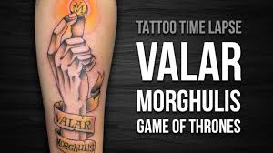 valar morghulis game of thrones comentado tattoo time lapse