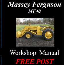 massey ferguson mf 40 mf40 tractor workshop service repair manual