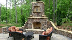 Backyard Fireplace Ideas Patio Ideas Built In Patio Wall Medieval Style Stone Fireplace