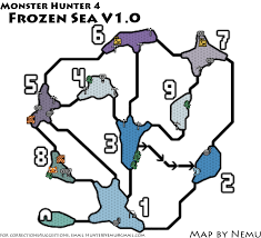 Resource Map Monster Hunter 4 Frozen Sea Resource Map Png V1 0 Neoseeker