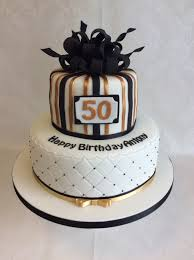 50th birthday cake ideas black silver and gold 50th birthday