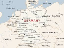 map of germany and surrounding countries with cities map of germany and switzerland with cities major