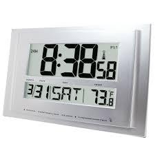 wall mounted digital alarm clock traceable digital radio atomic wall clock