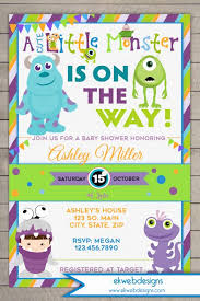 inc baby shower inc baby shower invitation monsters baby shower