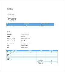 word invoice format invoice template commercial invoice word