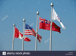 Canadian Flag 1960 British And American Flags Stock Photos U0026 British And American