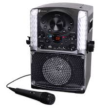 Party Speakers With Lights Singing Machine Sml625btbk Bluetooth Cd G Karaoke System Walmart Com