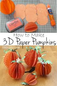 Halloween Crafts Made Out Of Paper by Fall Scarecrow And Pumpkin Centerpiece 3d Decoration And Craft