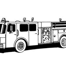 red fire truck picture coloring page coloring sky