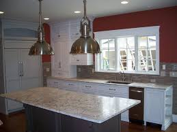 Brown Subway Tile Backsplash by Granite Countertop Paint White Cabinets Backsplash For Tan Brown