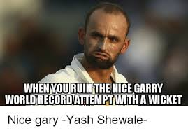 Gary Meme - when you ruin the nice garry worldrecordattempt with a wicket nice