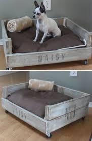 canapé lit palette un petit canapé lit pour chien en palette sur roulettes