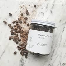 organic coffee scrub u2014 salt and c