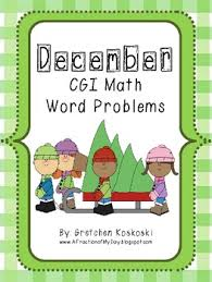 december holidays cgi math word problems variety pack by gretchen