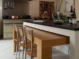 table ilot cuisine haute modèle deco cuisine table haute table escamotable ilot et