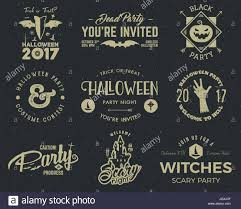 Free Scary Halloween Invitation Templates by Halloween 2017 Party Label Templates With Scary Symbols Zombie