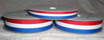 blue and white striped ribbon tri colour striped grosgrain ribbon for trophys and medals