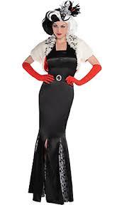 Party Costumes Halloween Cruella Vil Costume Couture 101 Dalmatians Party