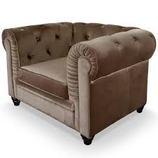 canap chesterfield velour fauteuil chesterfield velours taupe