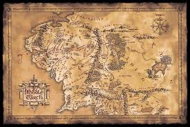 map from lord of the rings the hobbit the lord of the rings poster posters usa