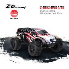 black eu zd racing 9106 thunder zmt 10 brushless electric