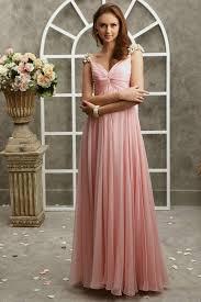 v neck cap chiffon floor length pink junior fabulous junior prom