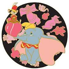 parade pins dumbo and timothy pink elephants on parade spinner pin from our