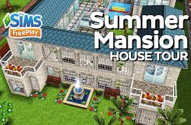 the sims freeplay summer mansion original design youtube