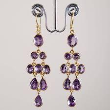 purple drop earrings gold and purple drop earrings earrings